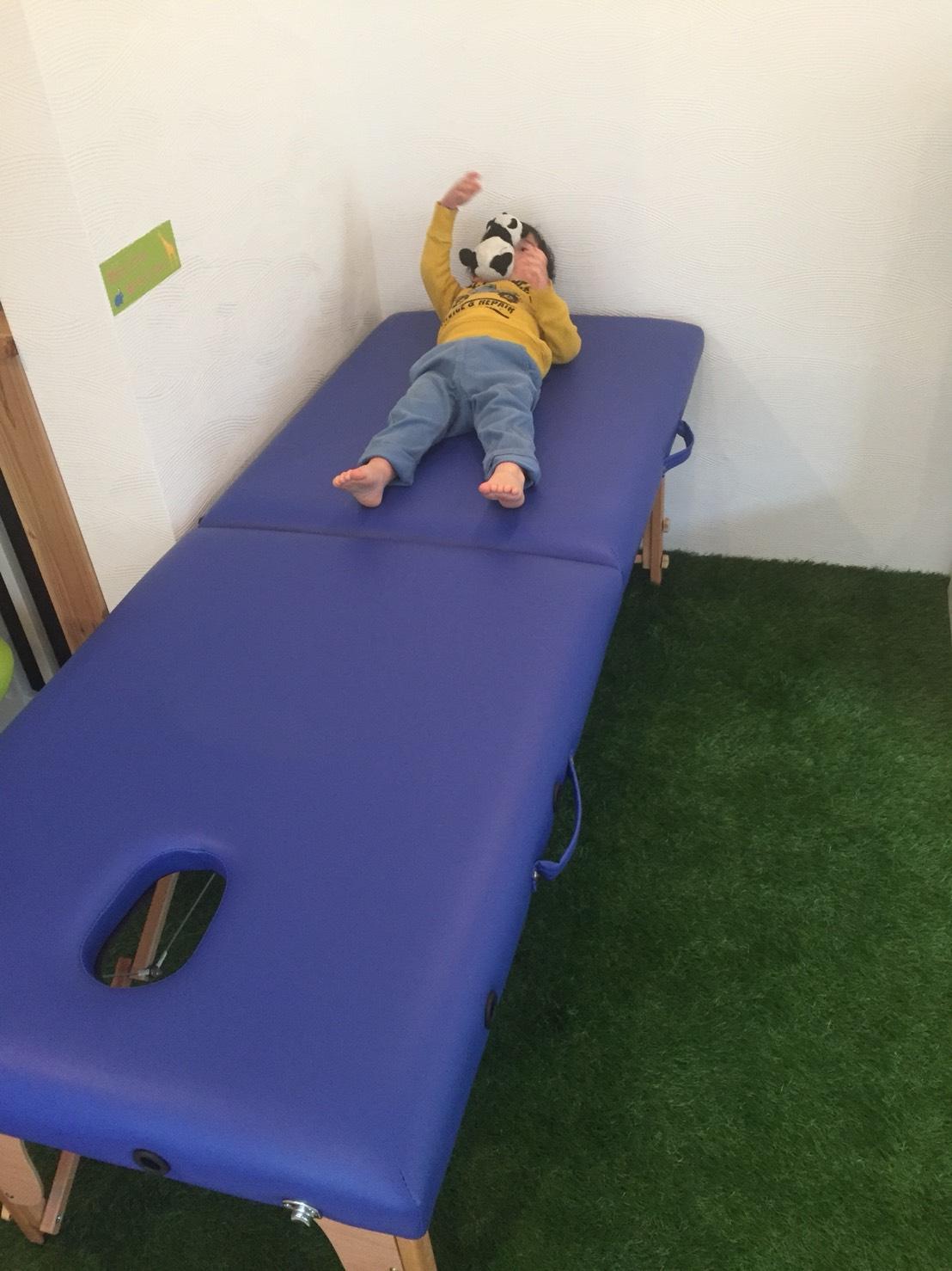 子どもの施術風景